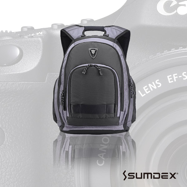 SUMDEX X-sac雨防護相機電腦旅行背包男士後背包帆布包休閒雙肩包PON-395