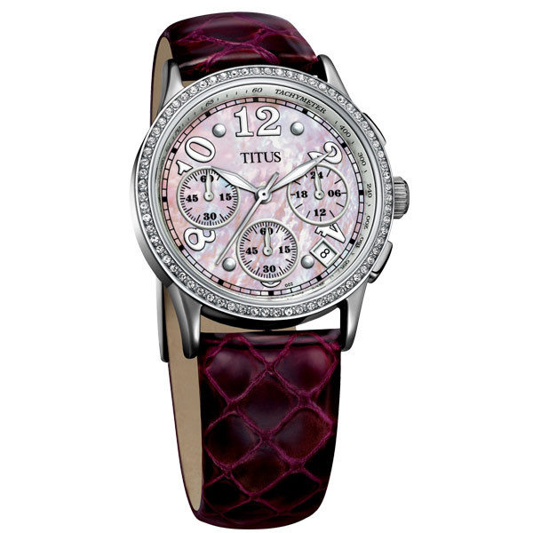 TITUS鐵達時都會三眼淑女計時腕錶