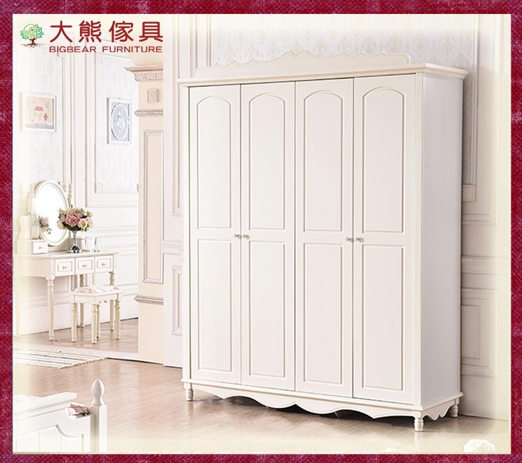 【大熊傢俱】杏之韓 ML004 韓式四門衣櫃 儲物櫃 衣櫥 象牙白 開門衣櫃 法式 衣櫃 鄉村田園風
