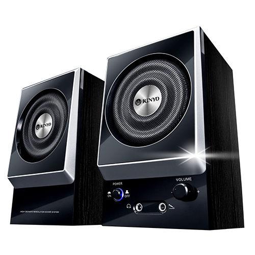 [哈GAME族]現貨 可刷卡 滿額$600免運費 耐嘉 KINYO KY-1007 二件式木質立體擴大音箱 木質音箱