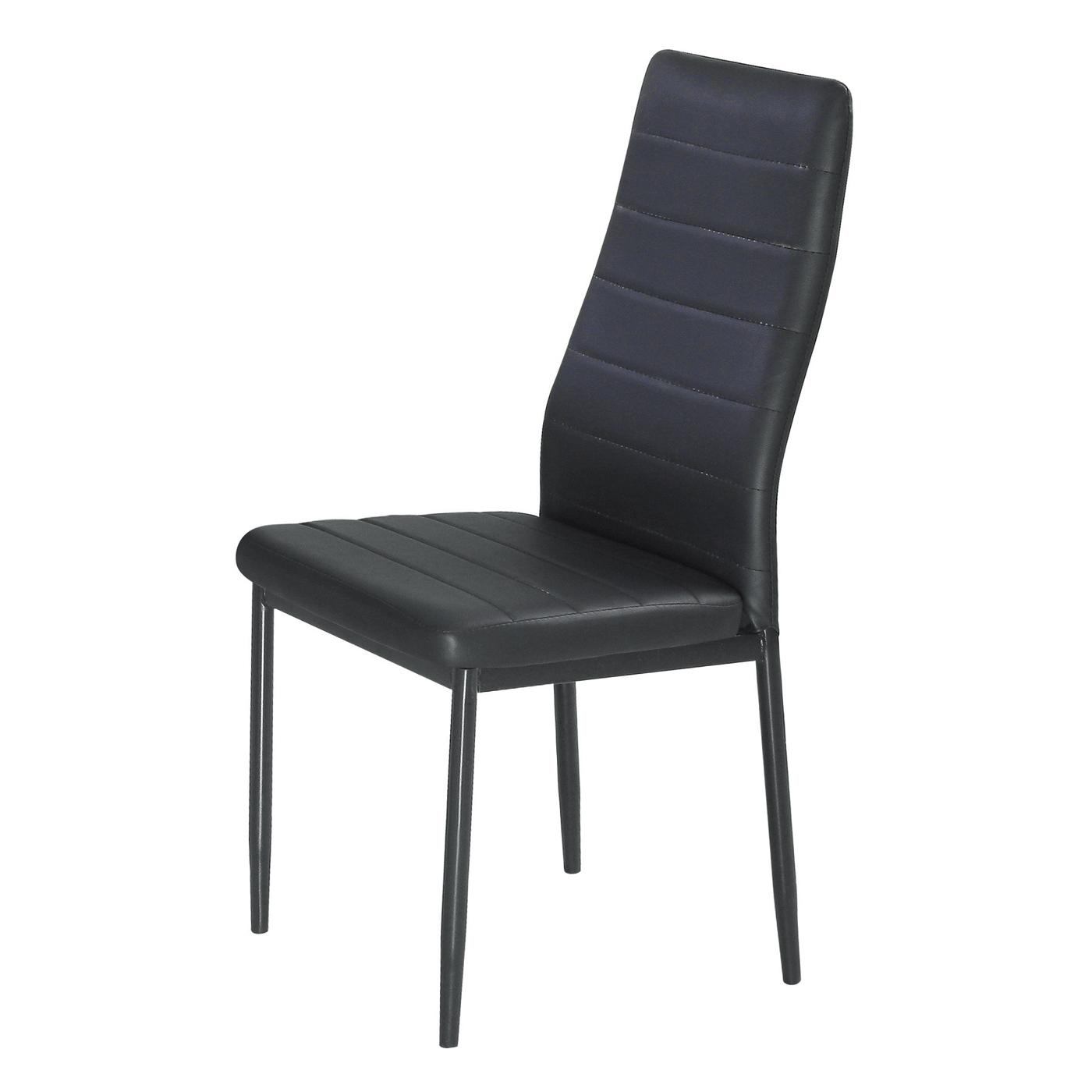 【森可家居】馬可黑皮餐椅 6JF988-11