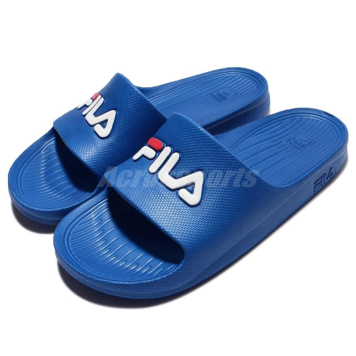 拖鞋 FILA 完全防水 復古 情侶鞋 運動休閒 藍 白 紅 男鞋 女鞋【PUMP306】4S355Q321