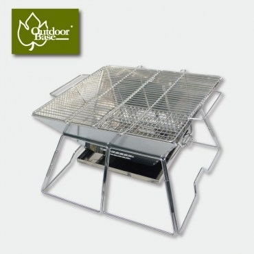 【Outdoorbase】24974- 焰舞不鏽鋼焚火台XL(食用級304烤網)