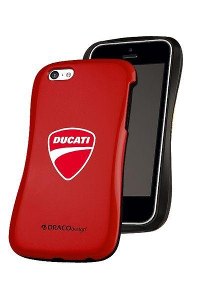 【蒙多科技】 原廠授權 DRACO Allure CPDU –DUCATI 超薄背蓋保護殼 for iPhone 5C(紅2)