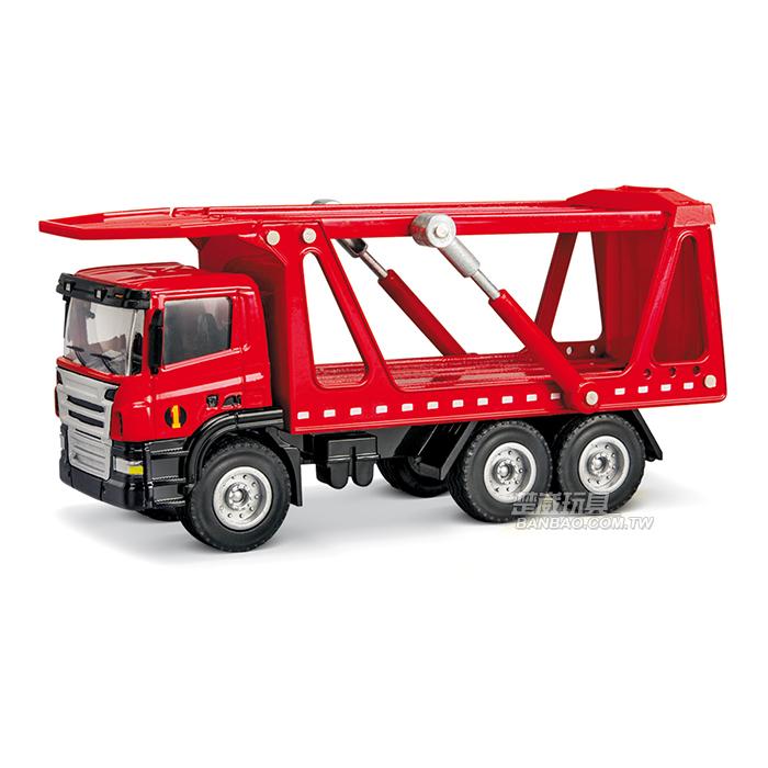 HY TRUCK華一 5012-14 R 汽車運輸車/紅 工程合金車模型車 雙層汽車拖運 轎運車(1:50)【楚崴玩具】
