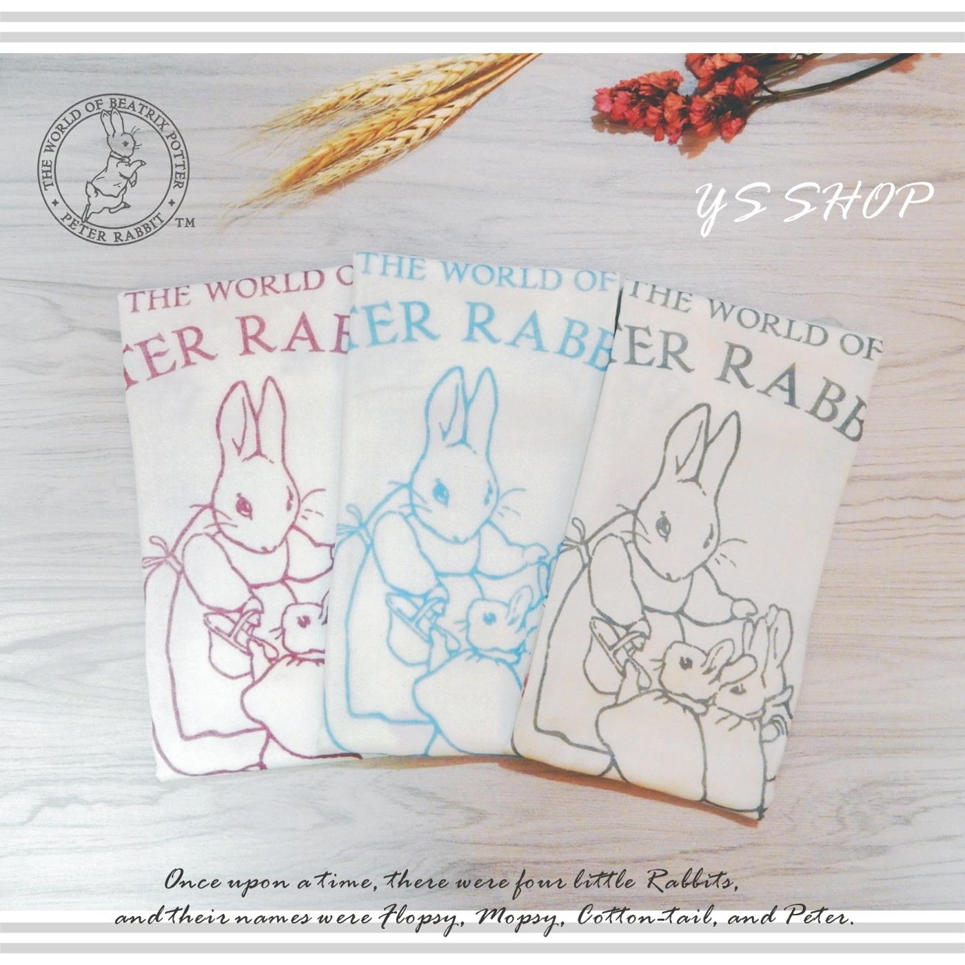 比得兔/彼得兔 精梳棉紗布印花手帕巾/方巾-HK602-S(1入裝)【YS SHOP】