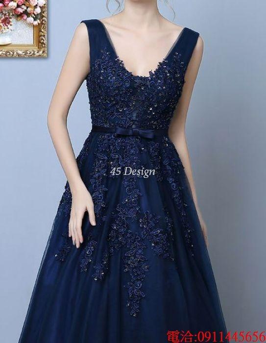 (45 Design)  7天到貨 長禮服伴娘禮服 結婚晚禮服姐妹裙長版禮服 韓式 洋裝 新娘敬酒服 連身裙12