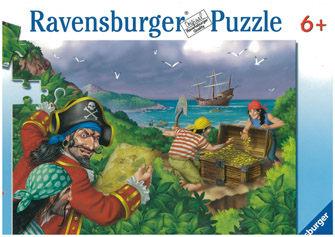 Ravensburger維寶100片拼圖-海盜的寶藏