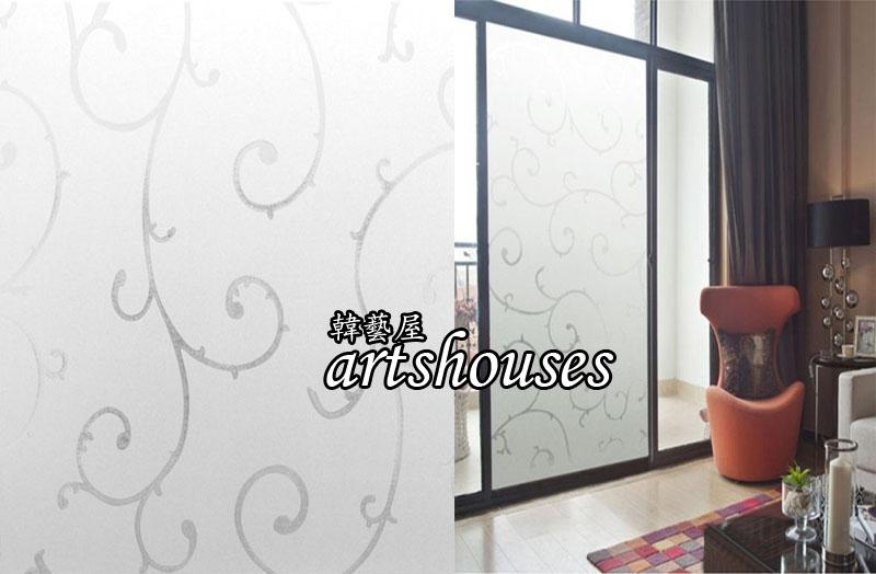 XM-3DWDF巴洛克3D無膠靜電玻璃貼窗貼防曬壁貼可重複貼kitchen bathroom glass