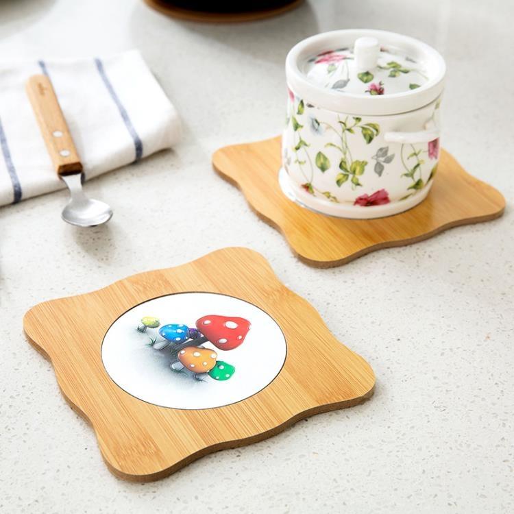 [超豐國際]木質隔熱墊創意防燙墊餐墊 廚房鍋墊砂鍋墊盤子墊子餐桌