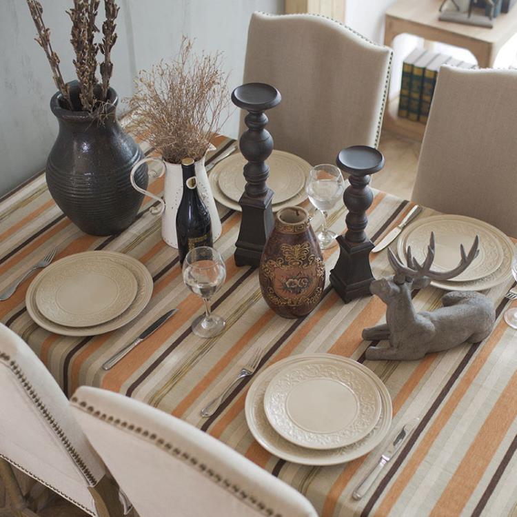 [超豐國際]美式鄉村復古做舊 茶幾布 臺布餐廳桌布桌子蓋布1入