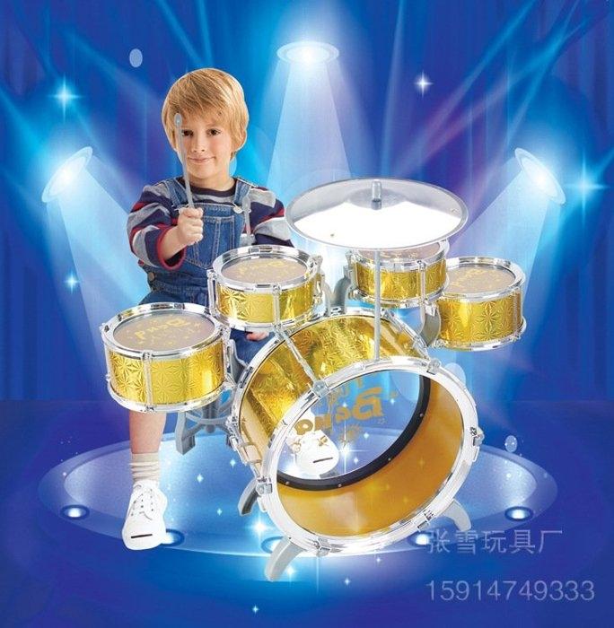 豪華爵士鼓(大型)←電子鼓 拍打鼓 嬰兒玩具 教具 音樂鼓 兒童爵士鼓 樂器 動感拍拍鼓 玩具鼓