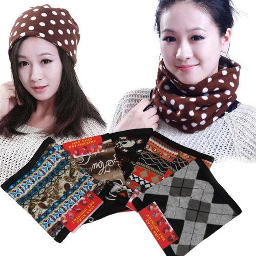 保暖圍脖帽(1入) / 防寒頸套 / 保暖帽 / 防寒口罩 / 雙層絨布