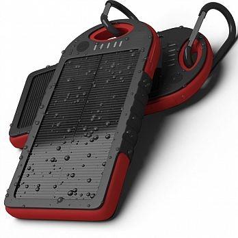 行動電源 太陽能行動電源 太陽能充電器 防水 5000mAh  含LED燈 雙輸出 市面上唯一有BSMI認證(MP)