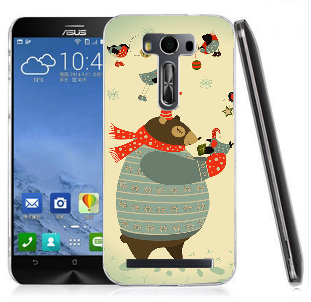 俏魔女美人館胖胖熊水晶硬殼ASUS ZenFone 2 Laser ZE500KL手機殼手機套保護套保護殼