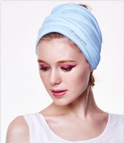 SUNSOUL HOII后益-新光感防曬光能布-頭巾UPF50藍光有機樂活購