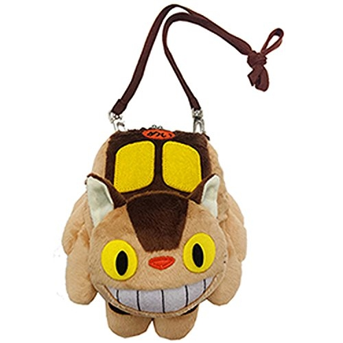 日本龍貓豆豆龍斜背包娃娃雙珠扣貓咪公車737101代購通販屋