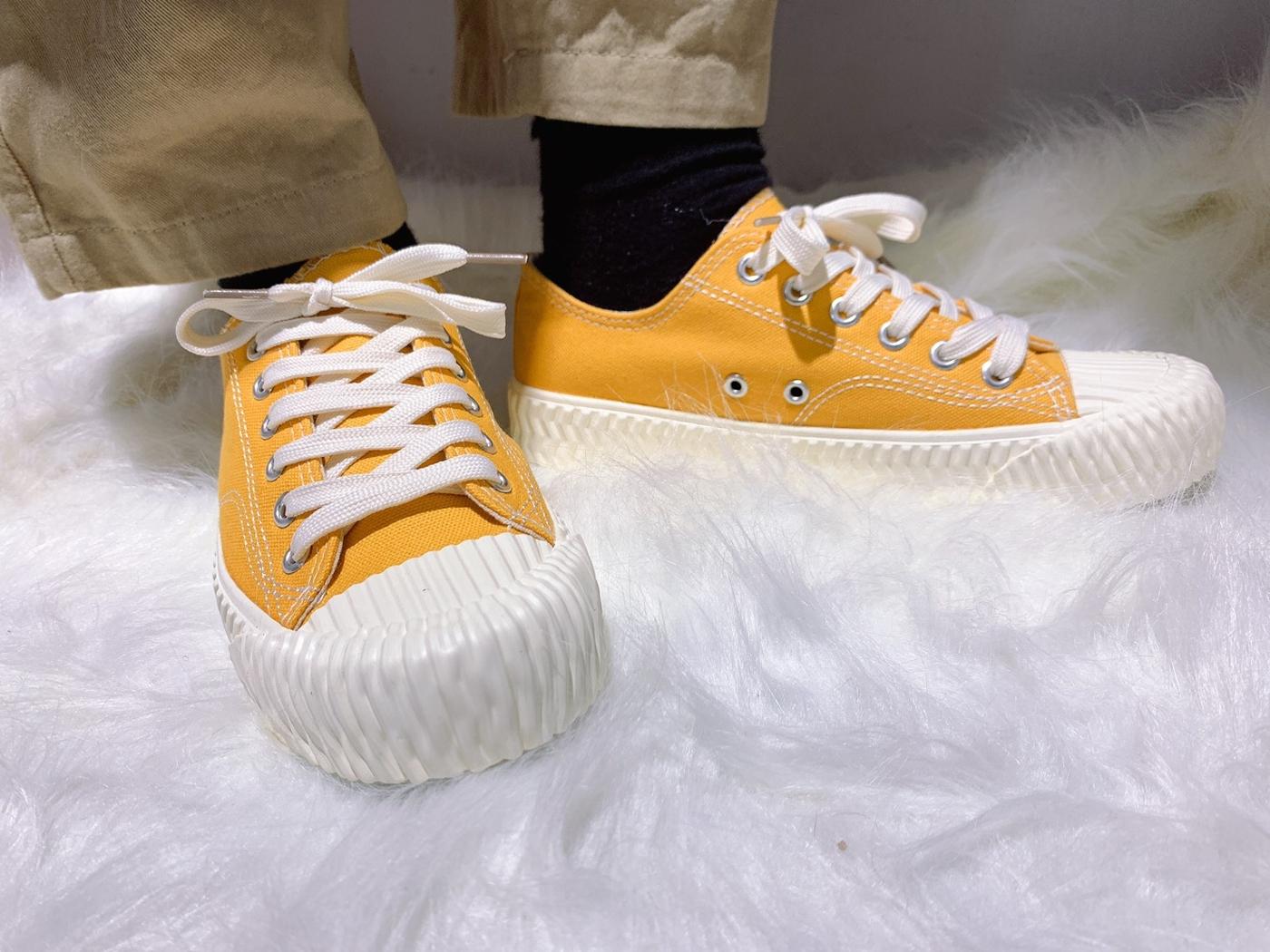 X-INGCHI. 女餅乾頭布鞋 黃 NO. X0018