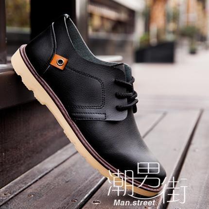 英倫鞋男鞋男士黑色商務休閒小皮鞋英倫風潮鞋青年正裝皮鞋子男百搭潮男街