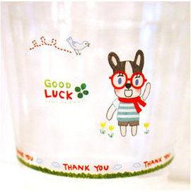 UNICO-LIFE╭✪貼紙-日韓甜心狗狗透明防水裝飾貼(一組2張入) 韓國貼紙-三款可選
