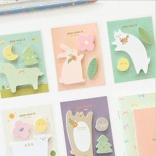 韓國livework動物樂園便利貼便條貼N次貼C1002