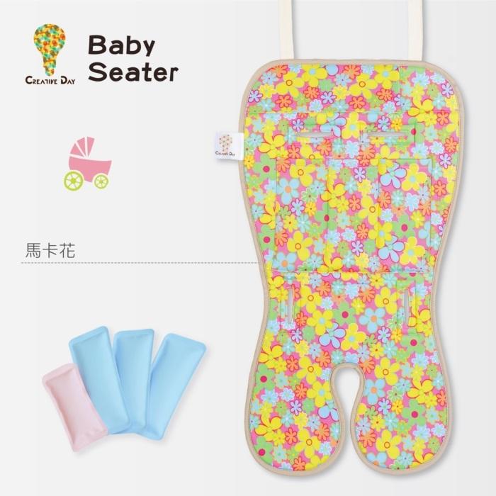 BabySeater嬰兒專用涼感墊推車涼墊馬卡花日本專利保冰袋C&D宅一起MIT台灣製饗樂生活