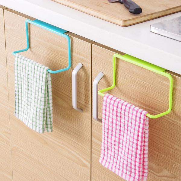 【居家收納第2件1折】【BlueCat】超輕巧小L單桿素色門背式簡易掛勾/毛巾架/置物架