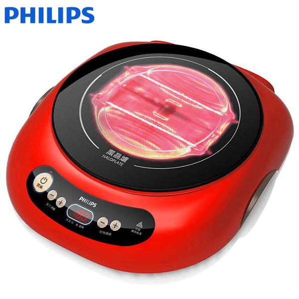 飛利浦黑晶爐(活力紅) 以光導熱 HD4989