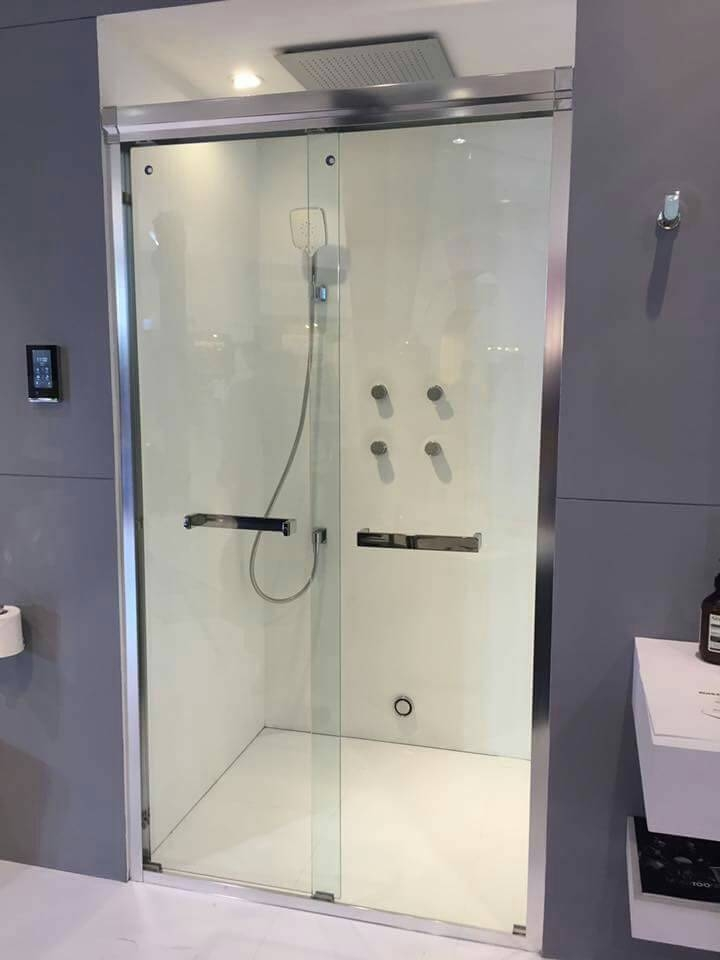 麗室衛浴美國KOHLER Parallel系列K-36963T-LR1-SHP一字型左右橫推拉門150*H190CM附置物架