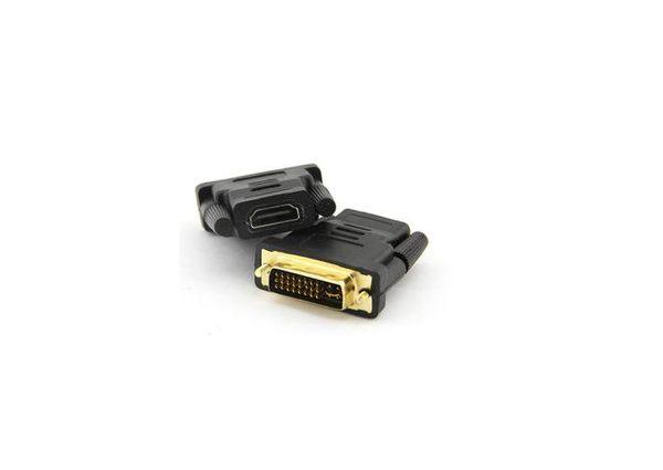 【生活家購物網】DVI24 5公轉HDMI母 DVI針轉HDMI孔轉接頭 DVI轉接頭