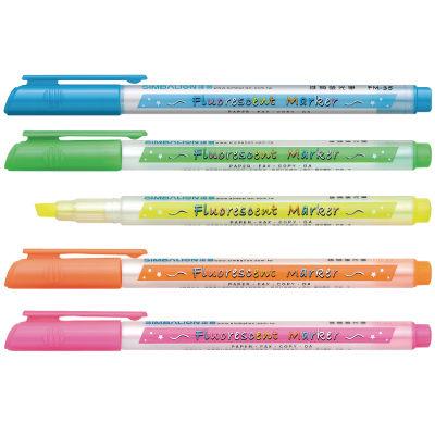 [奇奇文具] 【雄獅 SIMBALION 螢光筆】 雄獅 FM-35 螢光筆 (桃紅色/黃色/綠色/藍色/橘色)