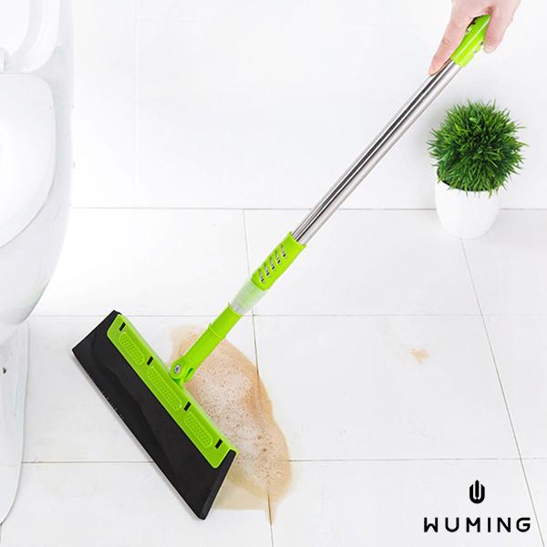 新款180旋轉魔術掃把可伸縮刮水除塵掃水擦窗戶浴室地磚居家辦公室飯店無名M06109