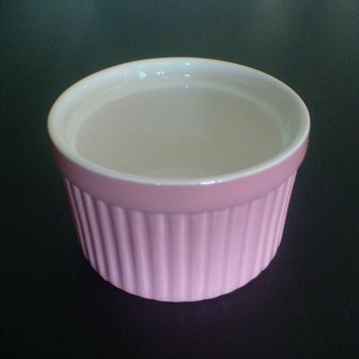 彩瓷布丁蛋糕烤模(紫色-120ml)/陶瓷器皿/烘焙用品