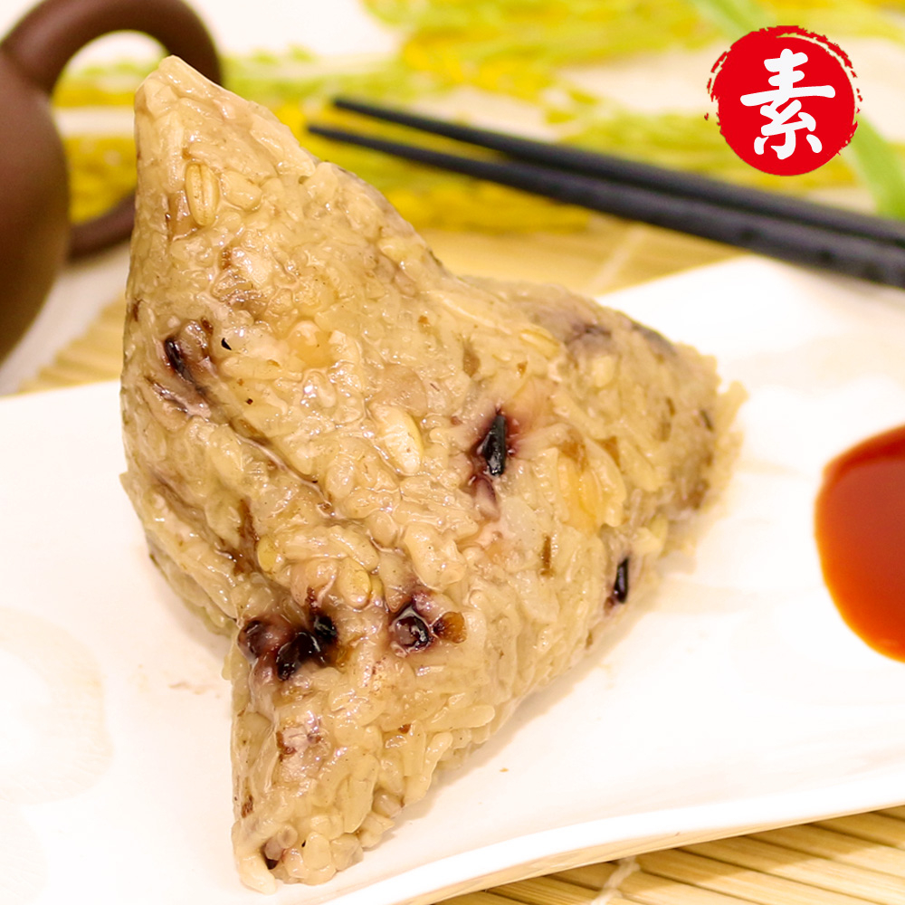陳媽媽-五穀高纖豪大滿足養生素肉粽6顆150g顆