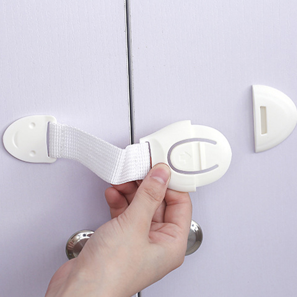 安全鎖 兒童櫥櫃安全防護鎖扣 防護織帶 【PMG056】收納女王