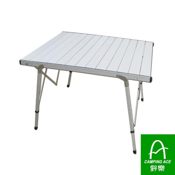 CAMPING ACE野樂鋁合金摺疊桌桌面加寬簡單組裝ARC-775.折疊桌.露營桌.蛋捲桌.鋁捲桌