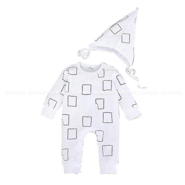 超低折扣NG商品~長袖兔裝彈性布長袖連身衣造型帽LU22411好娃娃