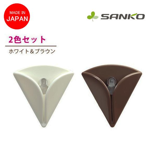 日本SANKO毛巾吸盤架2入毛巾吸盤式掛勾抹布掛勾1秒壁掛式吸盤掛勾毛巾夾擦手巾夾