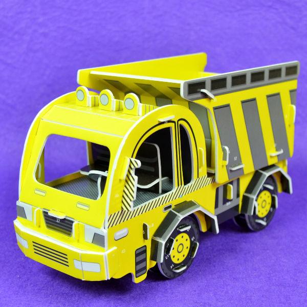佳廷家庭親子DIY紙模型立體勞作3D立體拼圖專賣店工程車特種車大卡車3關節可動式邦維