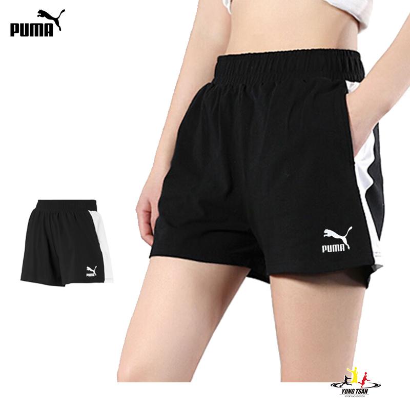 Puma T7 女 黑 短褲 運動短褲 棉褲 慢跑 運動 休閒 瑜珈 健身 短褲 57920401