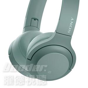 曜德新上市送收納袋免運SONY WH-H800薄荷綠迷你版觸控無線藍芽NFC耳罩式耳機