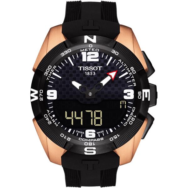 NBA SPECIAL EDITION TISSOT天梭T-TOUCH鈦金屬太陽能觸控NBA特別版手錶-45mm T0914204720700