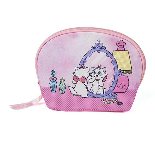 sun-star迪士尼水彩暈染童話系列大開口貝殼型化妝包瑪莉貓UA52347
