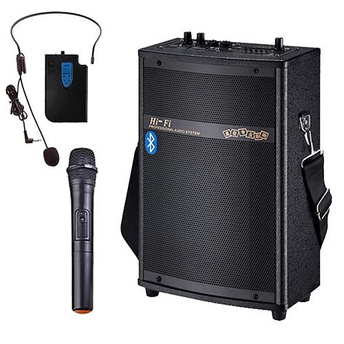 大聲公實用型無線式多功能行動音箱喇叭手持耳掛組無線麥克風教學擴音器