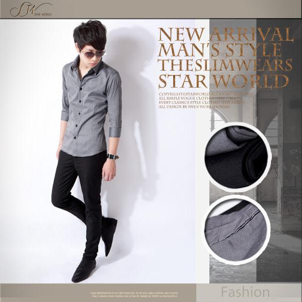 SW都會雅痞修身Slim黑灰緞面邊細緻質感窄版紳士素面西裝褲Dior版型K32103
