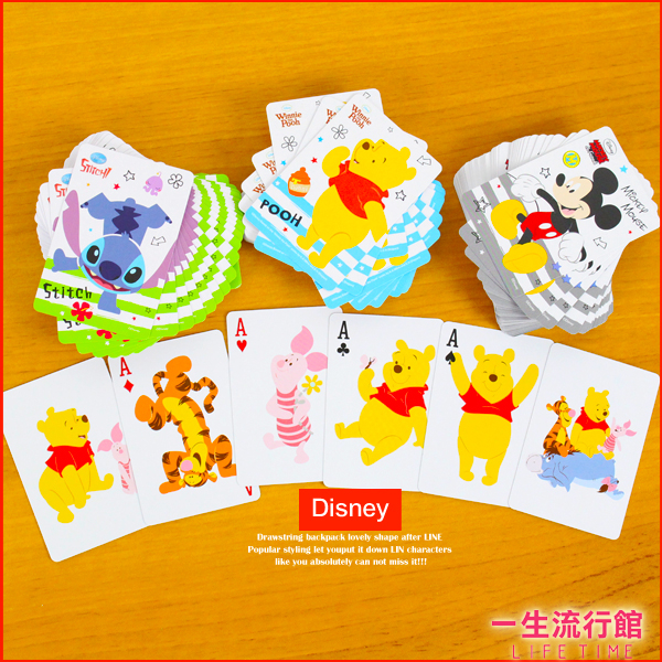 迪士尼史迪奇米奇小熊維尼正版撲克牌桌遊玩具派對party生日遊戲poker D62067