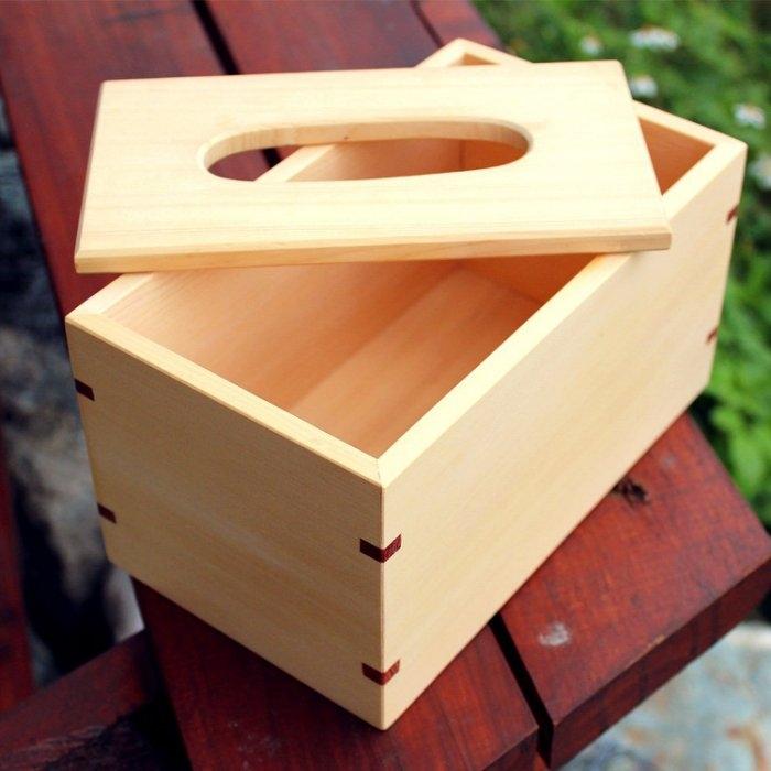 木樂館原木衛生紙盒阿拉斯加扁柏黃檜活動式面紙盒木盒置物盒居家雜貨