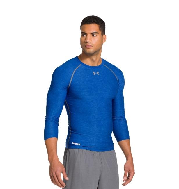 男子UA HeatGear Sonic強力伸縮型長袖運動衣