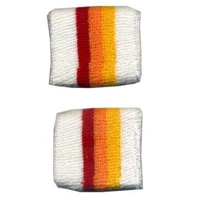 護腕毛巾(白橘紅)