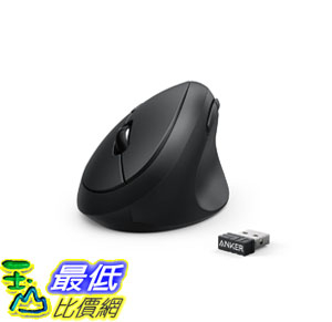 美國代購Anker AK-98ANWVM-UBA滑鼠Vertical Ergonomic Optical Mouse 800 1200 1600DPI 5 Buttons